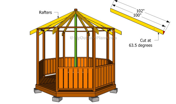 Gazebo Roof Framing. Building The Rafters