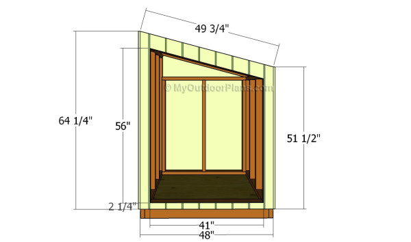 Front face siding