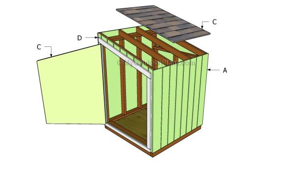 Generator shed door plans