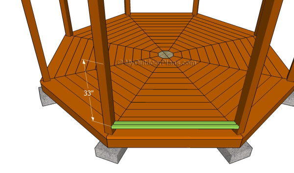 How to build gazebo railings myoutdoorplans free for Gazebo cost to build