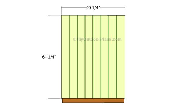 Long side wall - siding