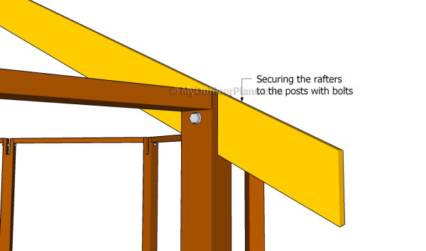 Securing the rafters