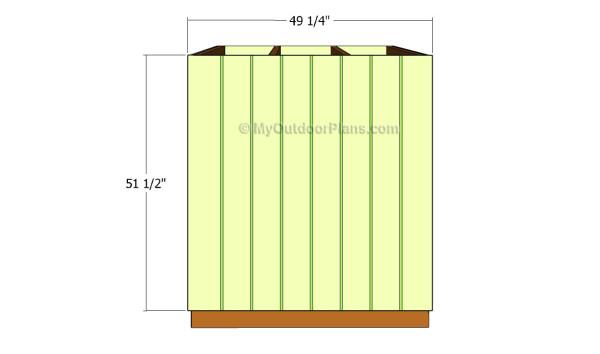 Short side wall - siding
