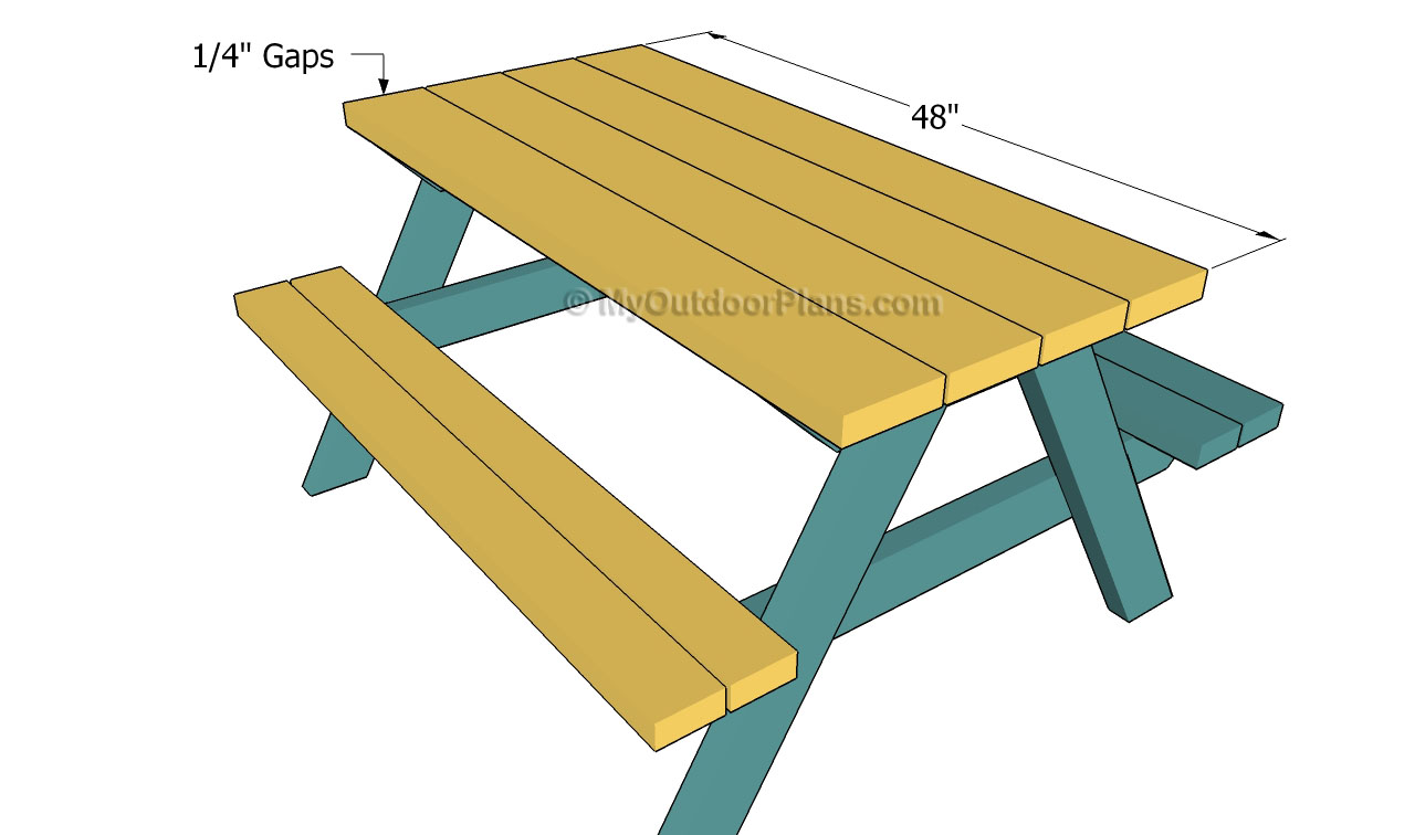 Kids Picnic Table Plans | Free Outdoor Plans - DIY Shed, Wooden ...