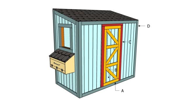 Building a door for a chicken coop
