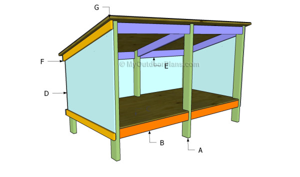 Double Dog House Plans | MyOutdoorPlans | Free Woodworking Plans and ...