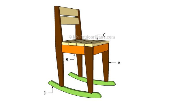 childrens rocking chair plans free