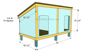 Double Dog House Plans Free Outdoor Plans Diy Shed