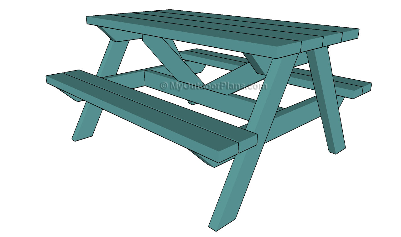 wooden childrens picnic table plans