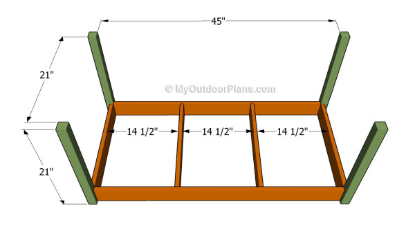 Making the frame of the box