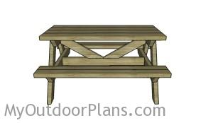 Simple kids picnic table