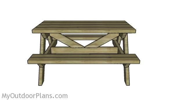 Simple kids picnic table