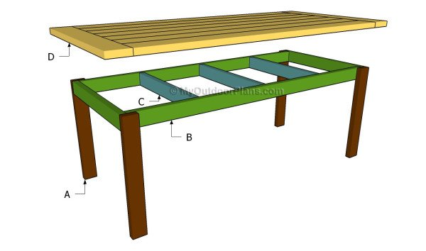 Farmhouse Table Plans | MyOutdoorPlans | Free Woodworking Plans and ...
