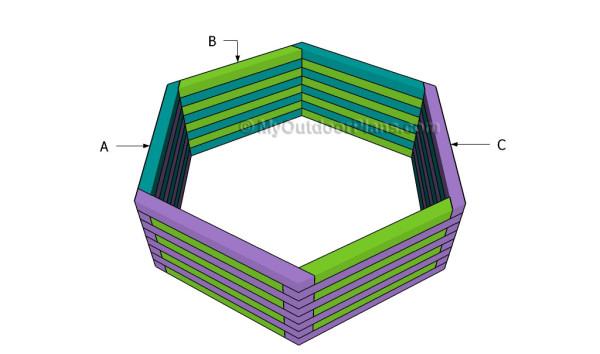 Building a hexagonal planter
