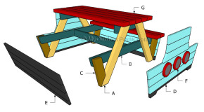 Pirate Picnic Table Plans