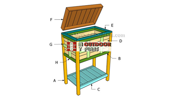 Building-a-wooden-cooler