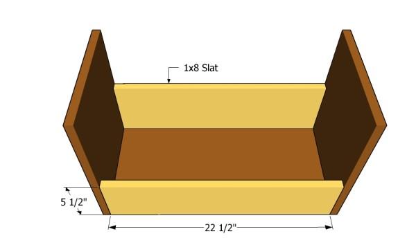 Building the bottom shelf