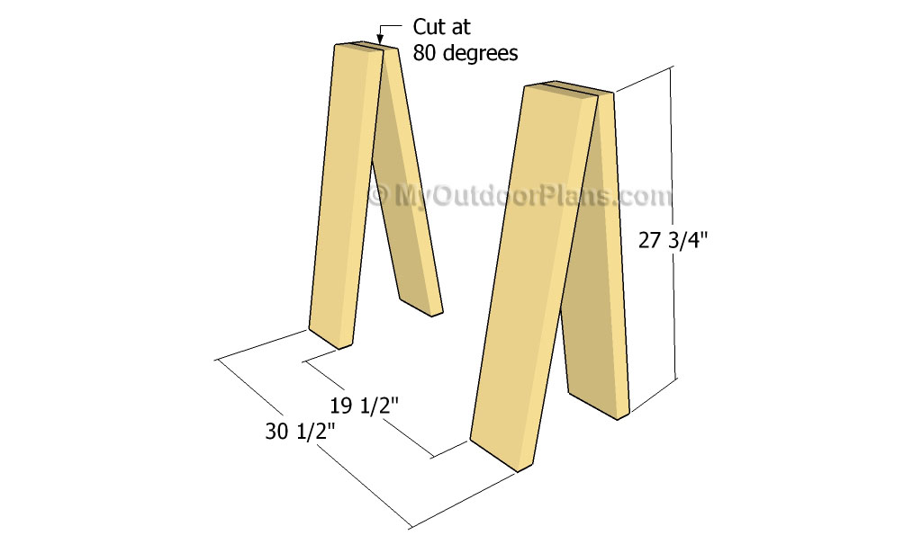 Sawhorse Table Plans | Free Outdoor Plans - DIY Shed, Wooden Playhouse ...