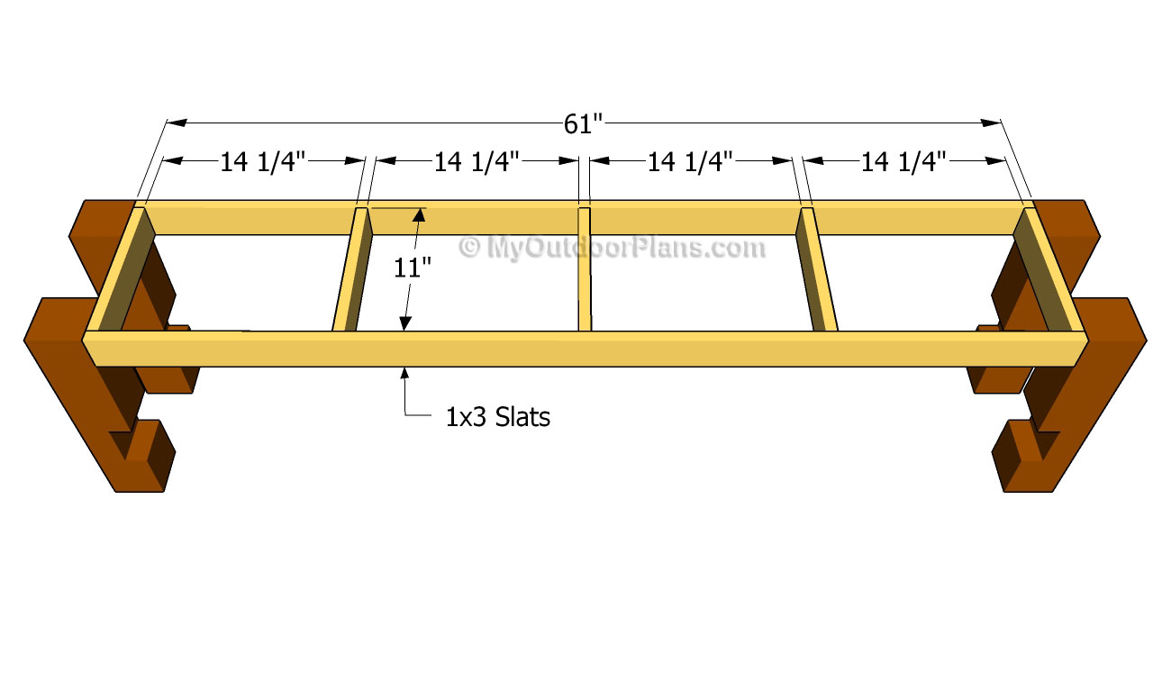 Pdf Plans Diy Bench Seat Fence Gate