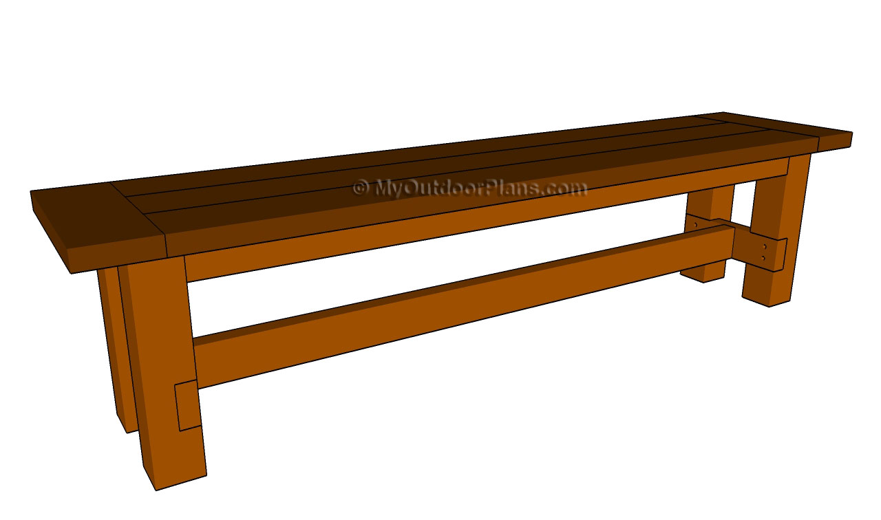 ... Bench Plans http://myoutdoorplans.com/furniture/farmhouse-bench