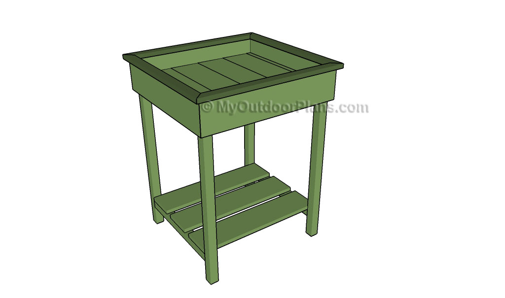 Wooden planter box plans free online woodworking plans for Garden planter plans