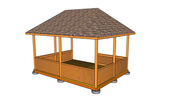 Gazebo designs myoutdoorplans free woodworking plans for Gazebo cost to build