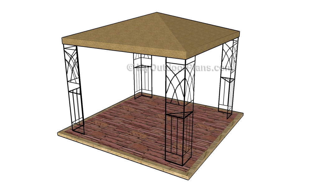 Gazebo designs free outdoor plans diy shed wooden for Outdoor pavilion plans