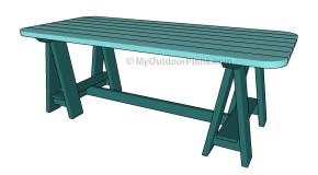 Sawhorse Table Plans