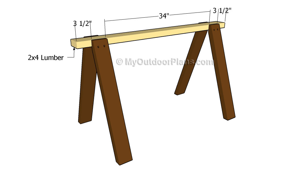 Sawhorse Plans Free Outdoor Plans Diy Shed Wooden