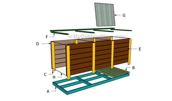 Building a 3 bin compost