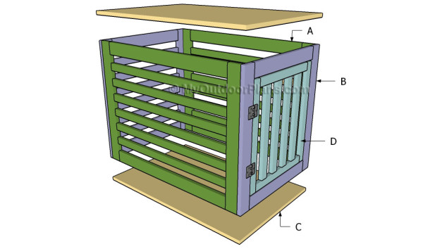 plans for wood dog crate