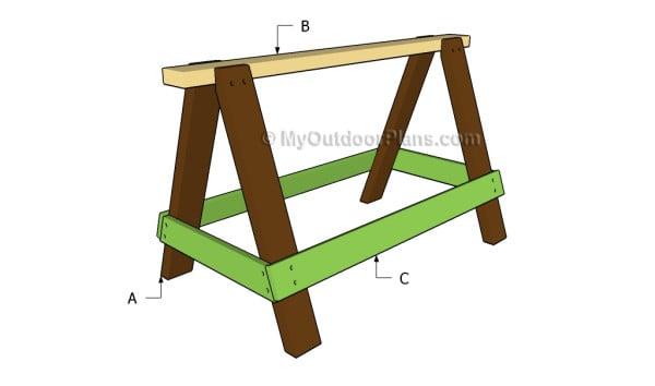 Building a sawhorse