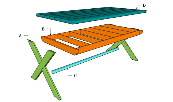 Building a x-shaped table