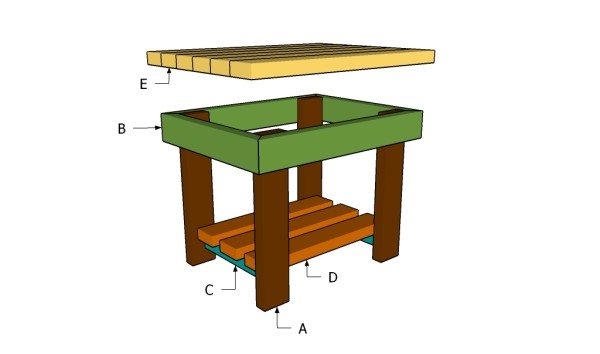 Woodwork Plans Small Outdoor Table PDF Plans