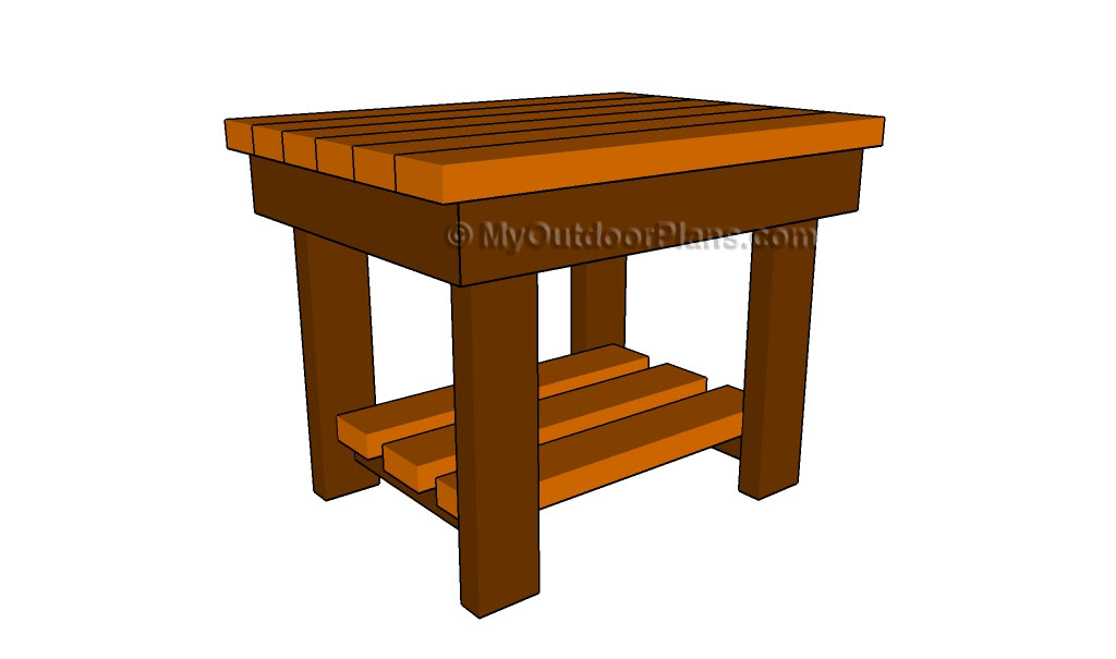 Outdoor End Table Plans  MyOutdoorPlans  Free Woodworking Plans