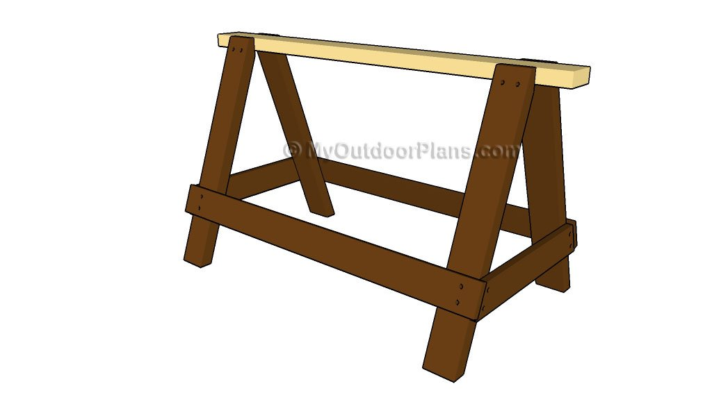 Sawhorse Plans | Free Outdoor Plans - DIY Shed, Wooden Playhouse, Bbq ...
