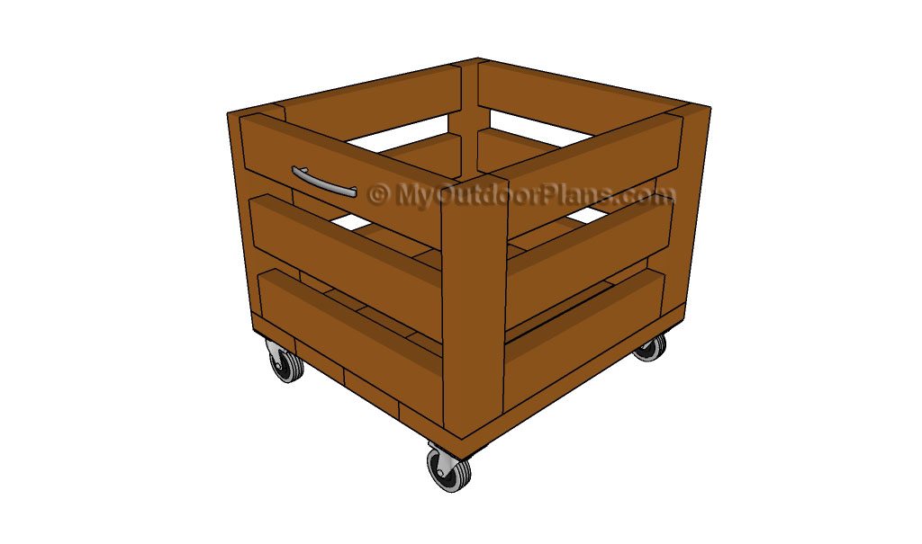 Wood Storage Cart Plans