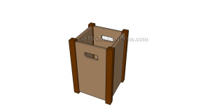 Wooden Trash Bin Plans