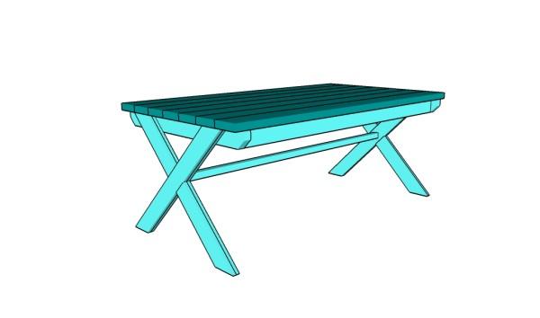 X legs table plans