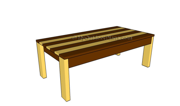 Charming Adirondack Coffee Table Plans