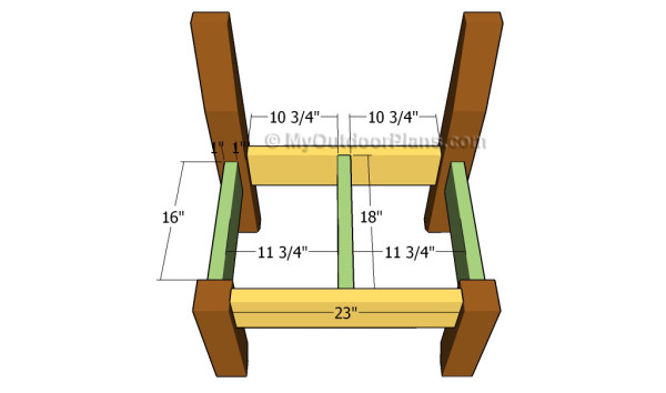 Attaching the seat supports