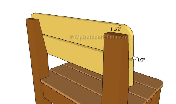 Attaching the slats to the back supports