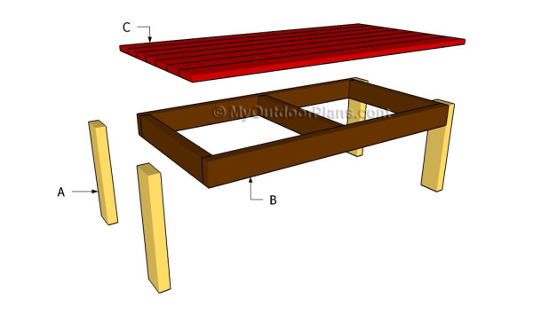 adirondack coffee table plans