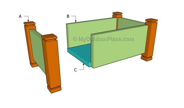 Building a cedar planter box