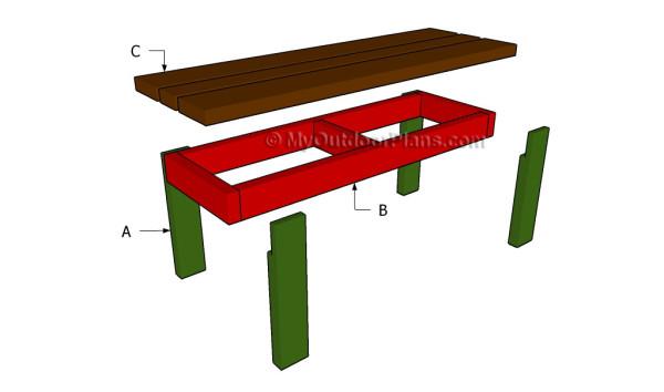 Building a firepit bench