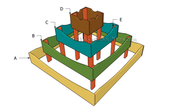 Building a pyramid planter