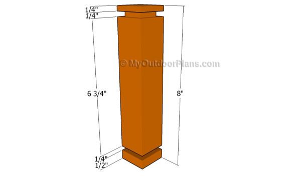 Building the corner posts