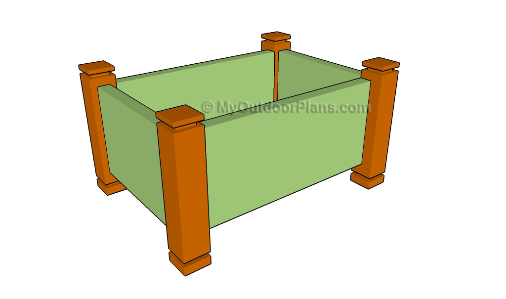 Wooden Planter Plans Pictures to pin on Pinterest