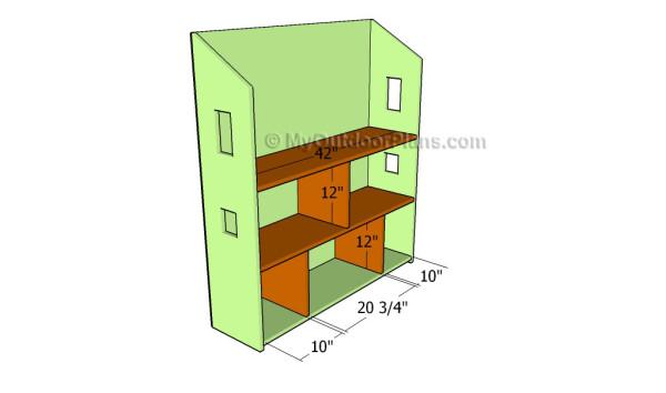 Fitting the interior shelves