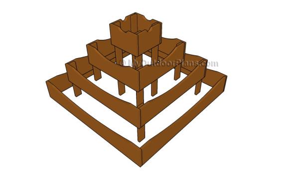 Pyramid planter plans